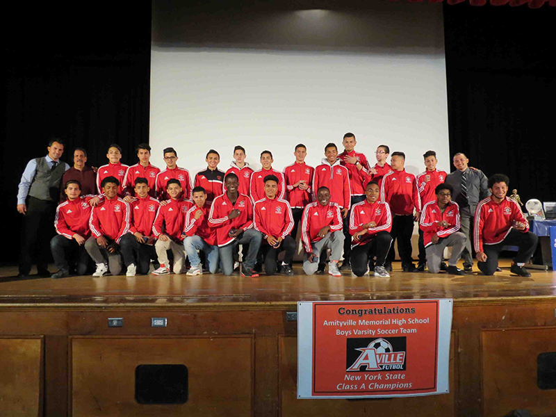 Boys Soccer Team Receives NYS Championship Rings